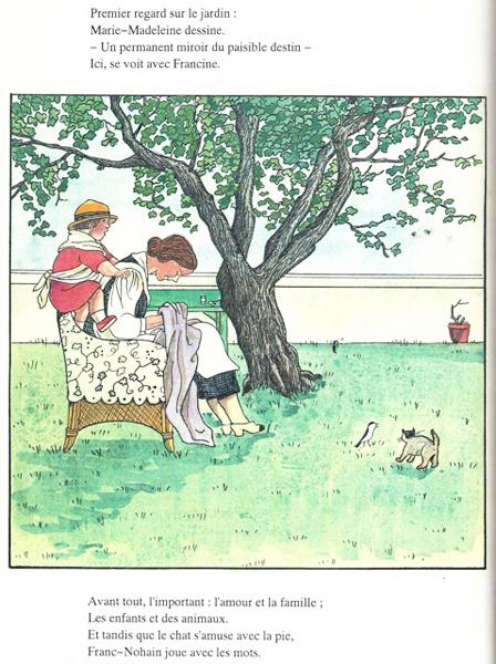 Mame et fils for Jardin a dessiner